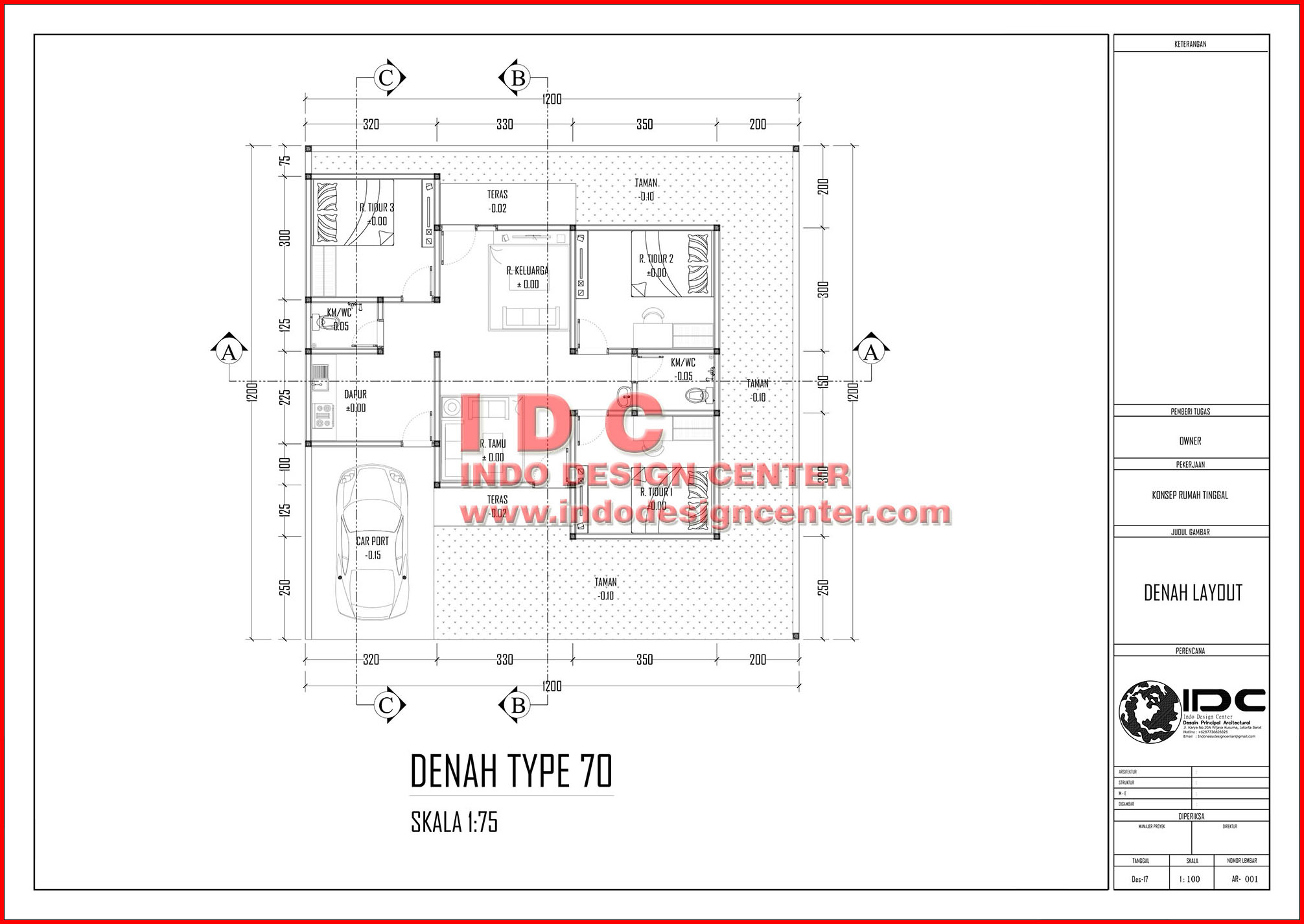 Gambar Kerja Rumah Tinggal Type 70 Jasa Desain Rumah Jakarta