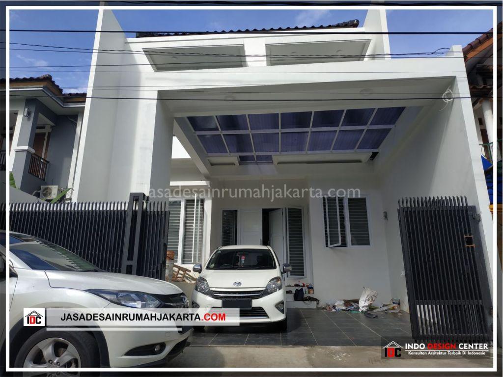Tampak Depan Rumah Minimalis Bpk Soni-Arsitek Gambar Rumah Klasik Modern Di Jakarta-Bekasi-Surabaya-Tangerang-Bandung-Jasa Konsultan Desain Arsitek Profesional 3