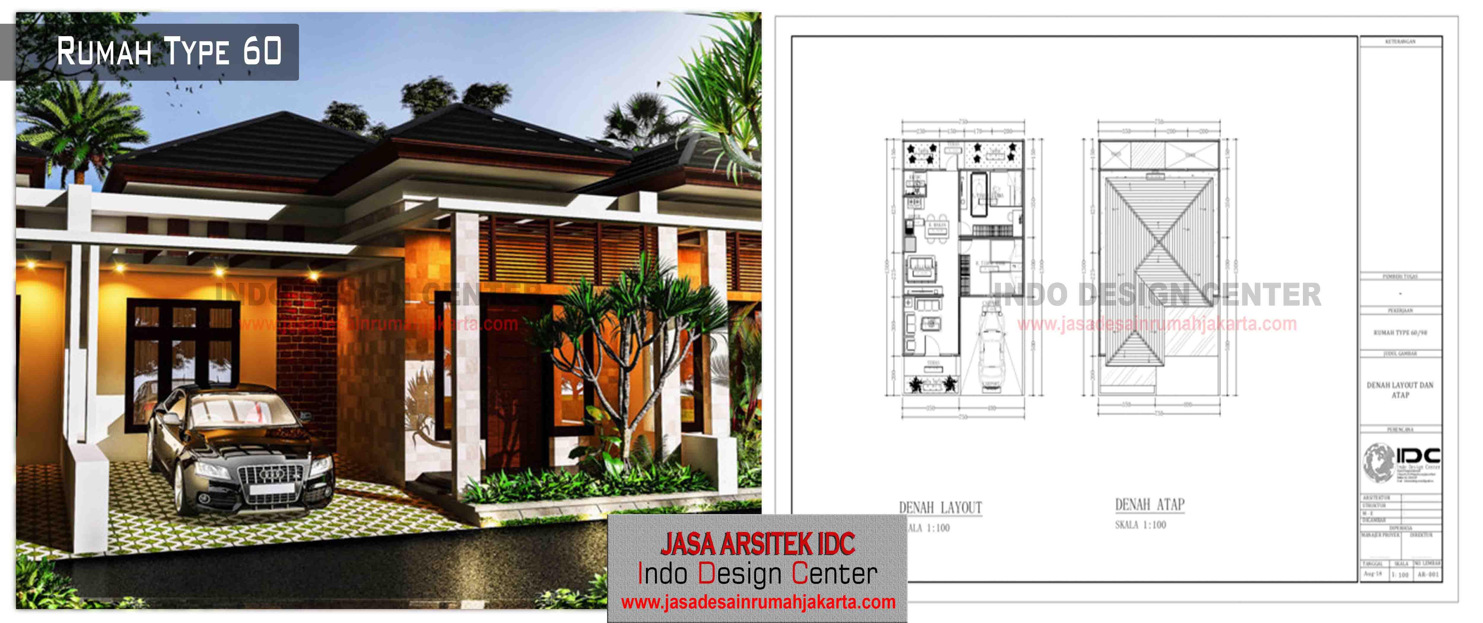 06 - Desain Rumah Type 60 | Jasa Desain Rumah Jakarta
