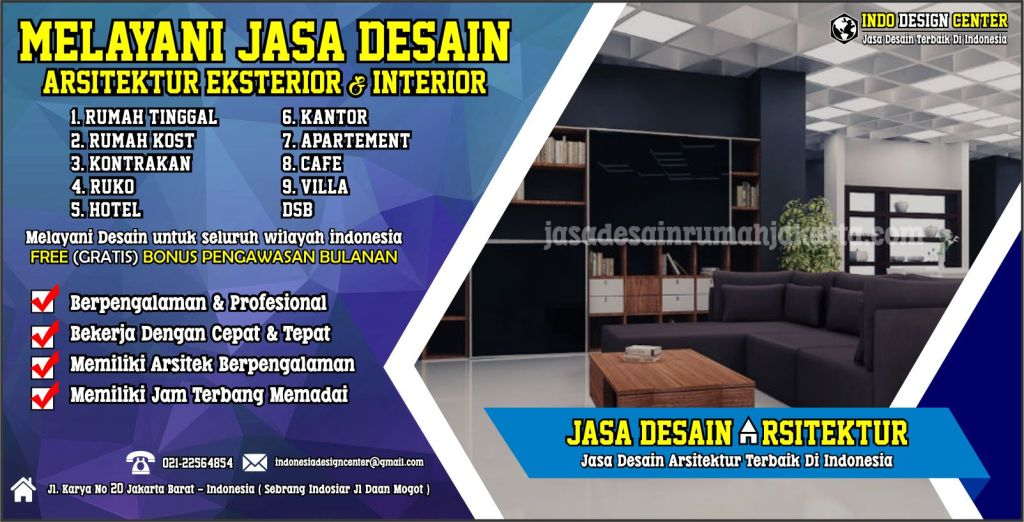 Harga desain interior per m2