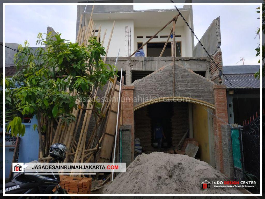 Tampak Depan Rumah Bpk Tarsi-Arsitek Gambar Desain Rumah Minimalis Modern Di Tangerang-Jakarta-Surabaya-Bekasi-Bandung-Jasa Konsultan Desain Arsitek Profesional 1