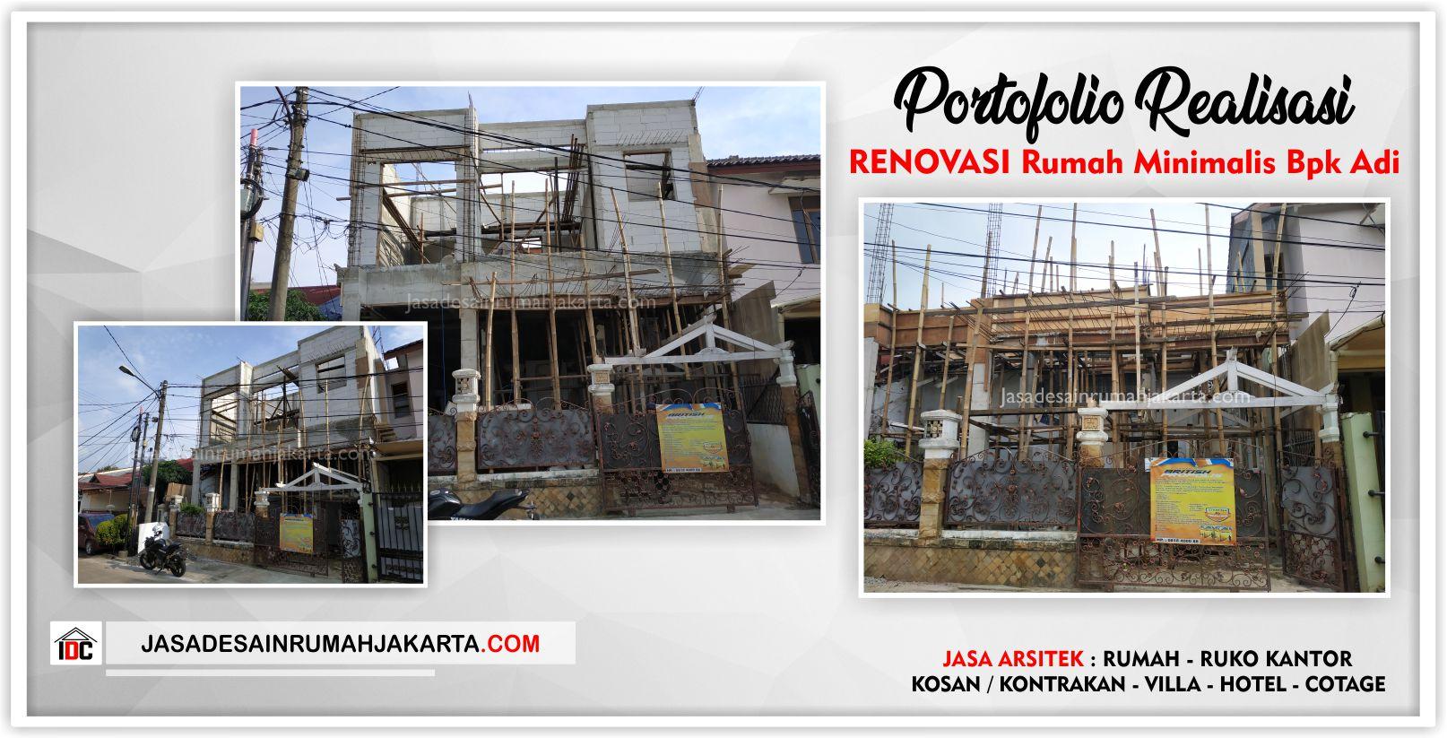 Portofolio Realisasi Rumah Bpk Adi-Arsitek Gambar Desain Rumah Minimalis Modern Di Bekasi-Jakarta-Surabaya-Tangerang-Bandung-Depok-Jasa Konsultan Desain Arsitek Profesional