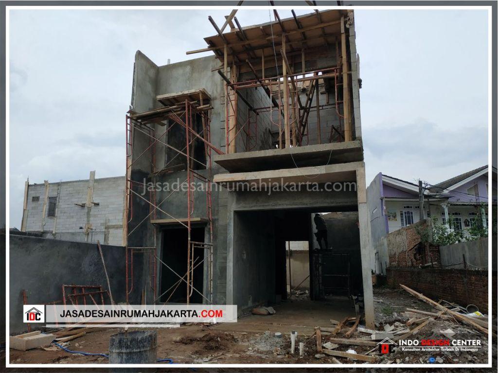 Tampak Depan Rumah Bpk Tito-Arsitek Gambar Desain Rumah Minimalis Modern Di Bekasi-Jakarta-Surabaya-Tangerang-Jasa Konsultan Desain Arsitek Profesional 1