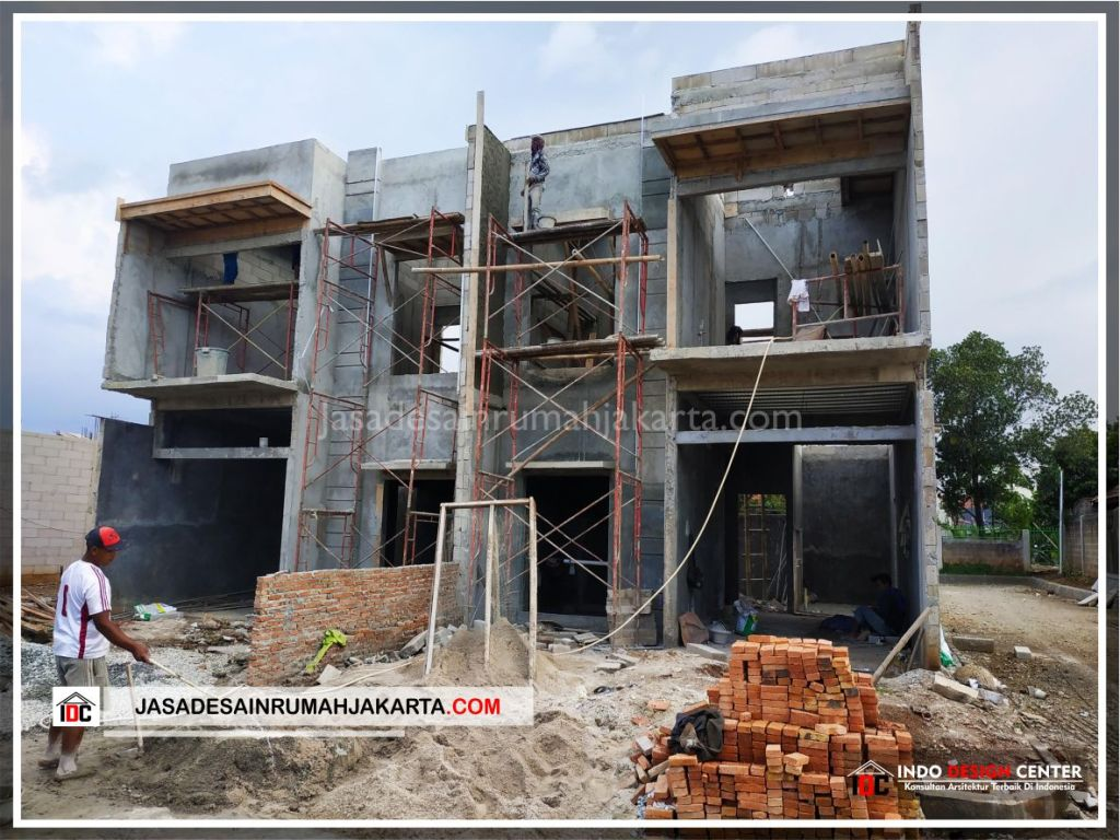 Tampak Depan Rumah Bpk Tito-Arsitek Gambar Desain Rumah Minimalis Modern Di Bekasi-Jakarta-Surabaya-Tangerang-Jasa Konsultan Desain Arsitek Profesional 3