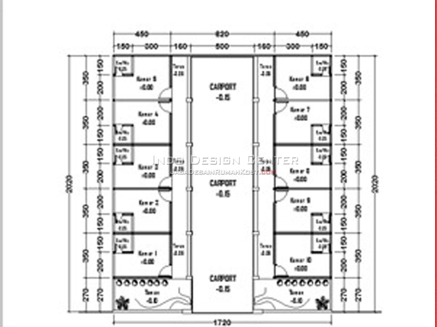 Permalink to Koleksi √240 Info Denah Rumah Kos Kosan Denah Rumah Terkeren