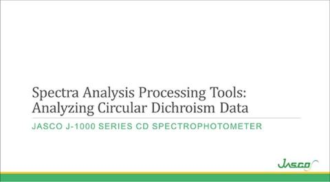 Spectra Analysis Processing Tools for CD Data Analysis