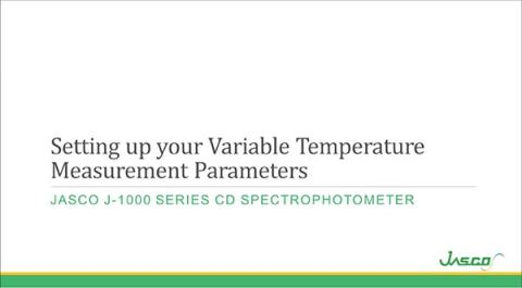 Variable Temperature Measurement Parameters