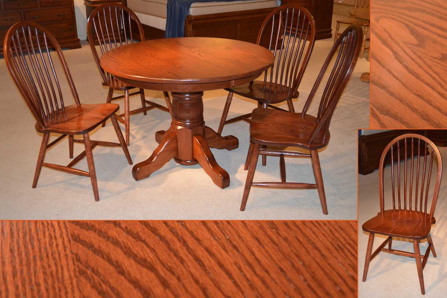 Amish Round Dining Table