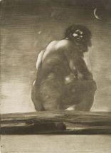 'Gigante sentado' (1818), de Goya.