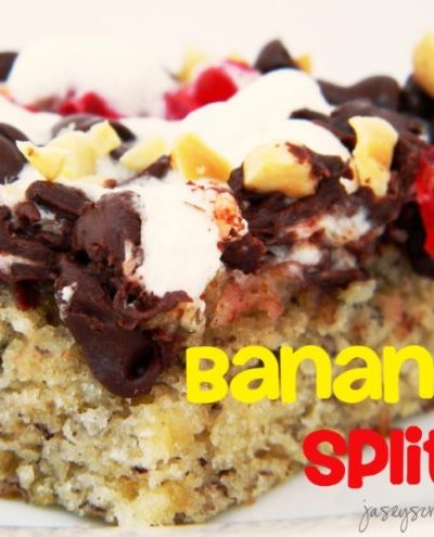 Banana Split Cake Bars