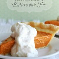Old Fashioned Butterscotch Pie