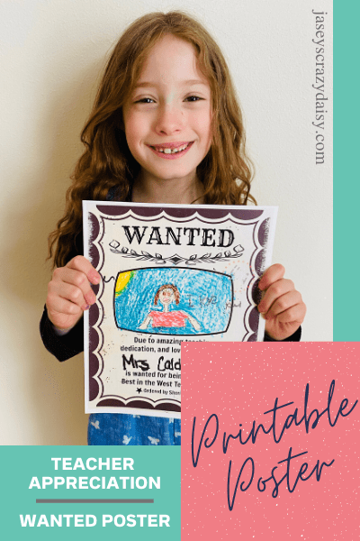 Wanted Teacher Poster