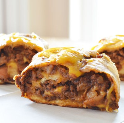 Bacon Cheeseburger Barbecue Roll Ups