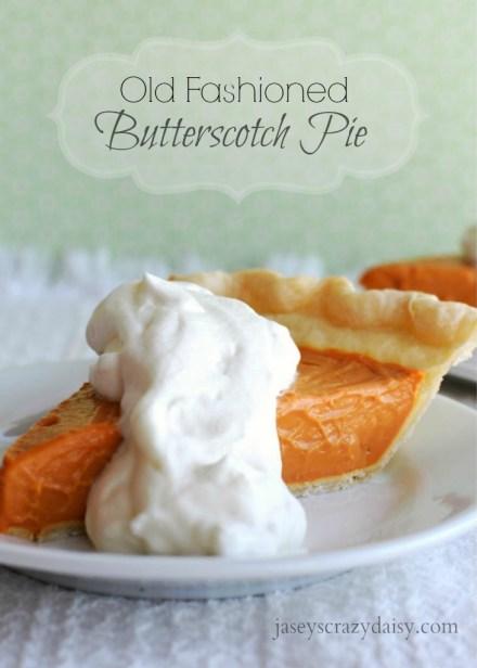Delicious Butterscotch Pie
