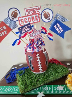 Red and Blue Football Pennant Printables