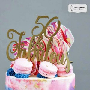 Fifty and Fabulous Cake Topper Cut Files