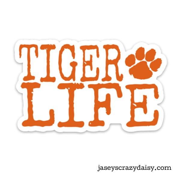 Tiger Life Decal