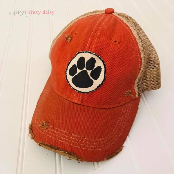 Orange Tiger Paw Hat