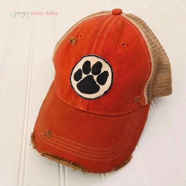 Orange Tiger Paw Hat