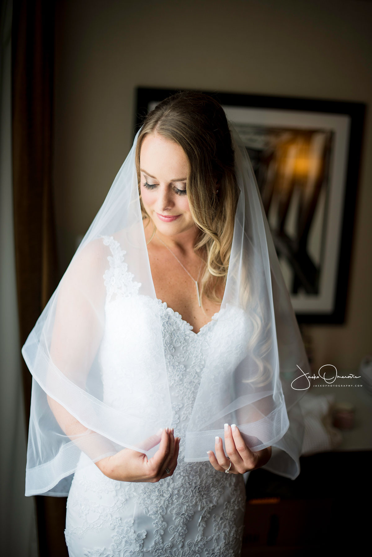 bride portrait at royal sonesta in Chicago