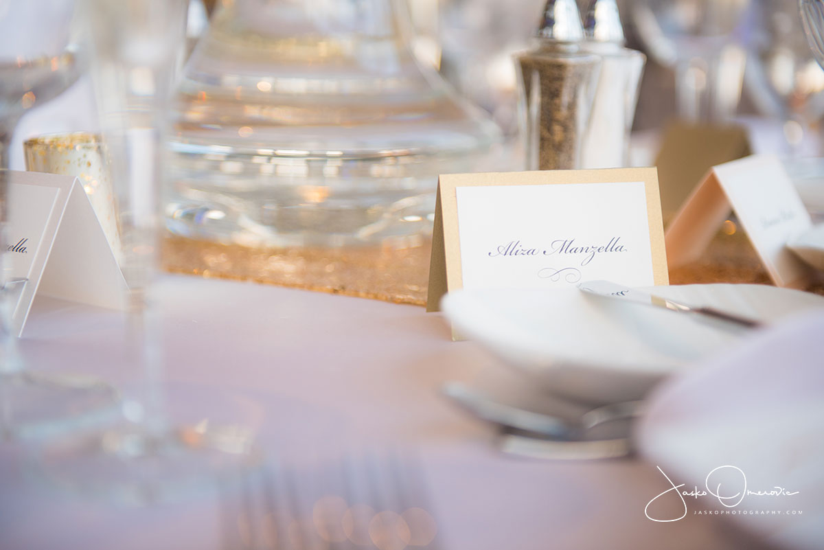 wedding table details at royal sonesta chicago