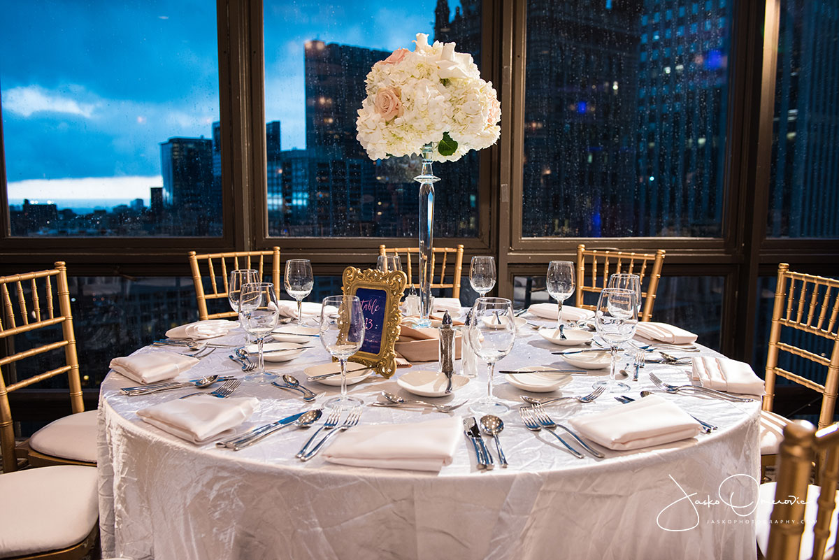 wedding details at royal sonesta chicago wedding venue