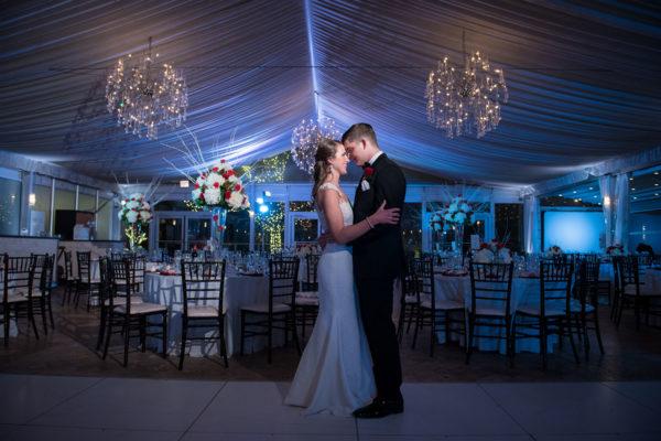 bride and groom wedding venue portrait