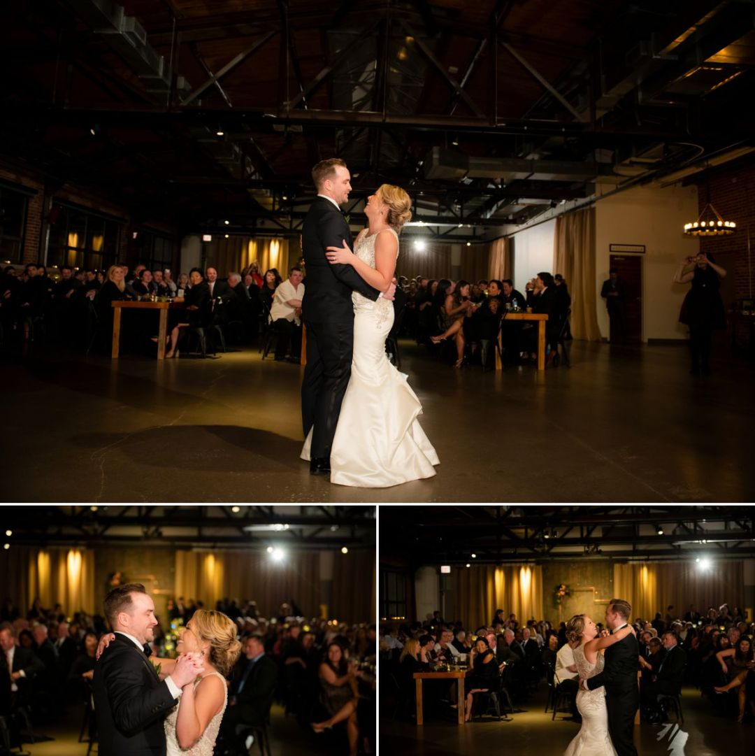 ovation chicago reception bride and groom first dance