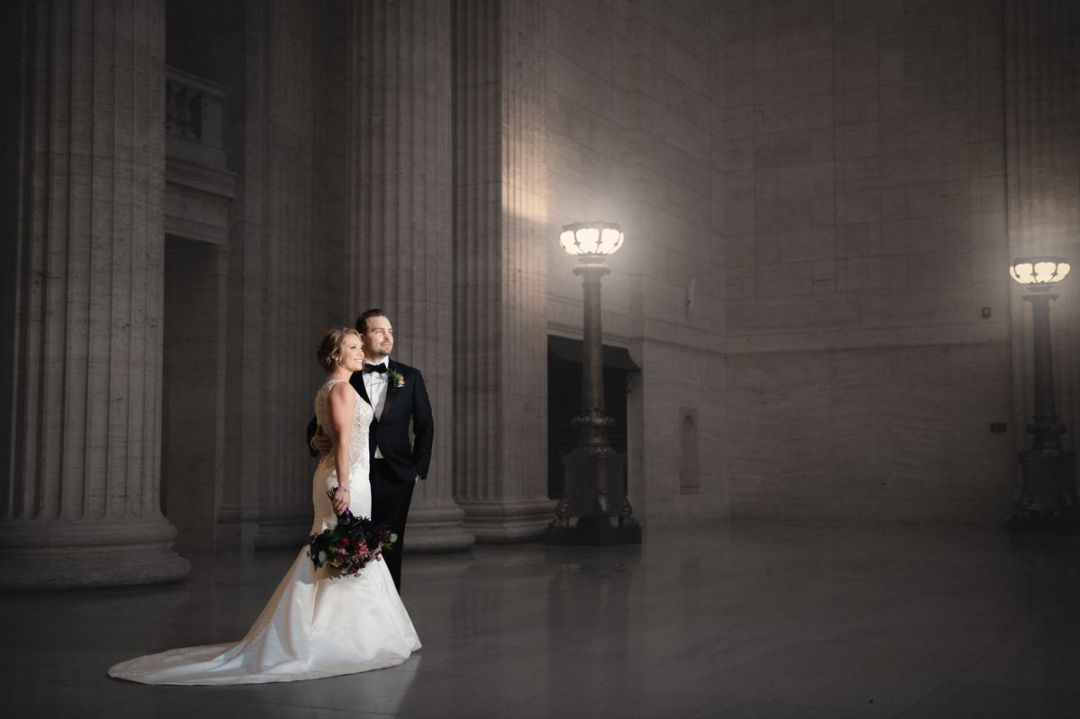 chicago wedding photography at union station