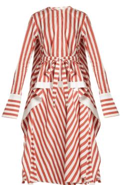 Palmer//Harding Waterfall-Hem Striped Shirt - Matches Fashion