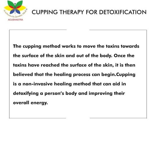 Cupping therapy for detoxification