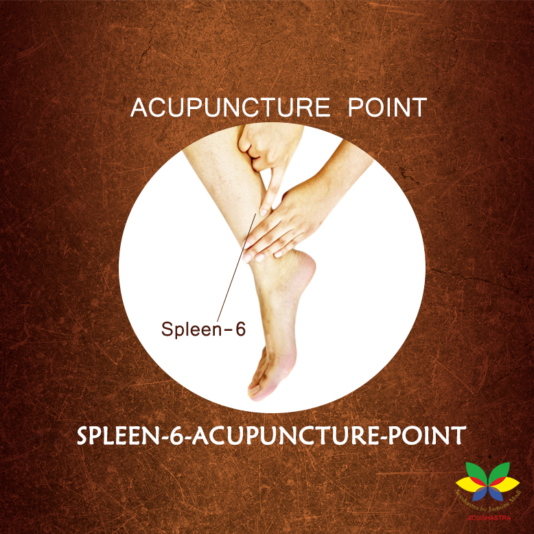 Spleen 6 Acupuncture point