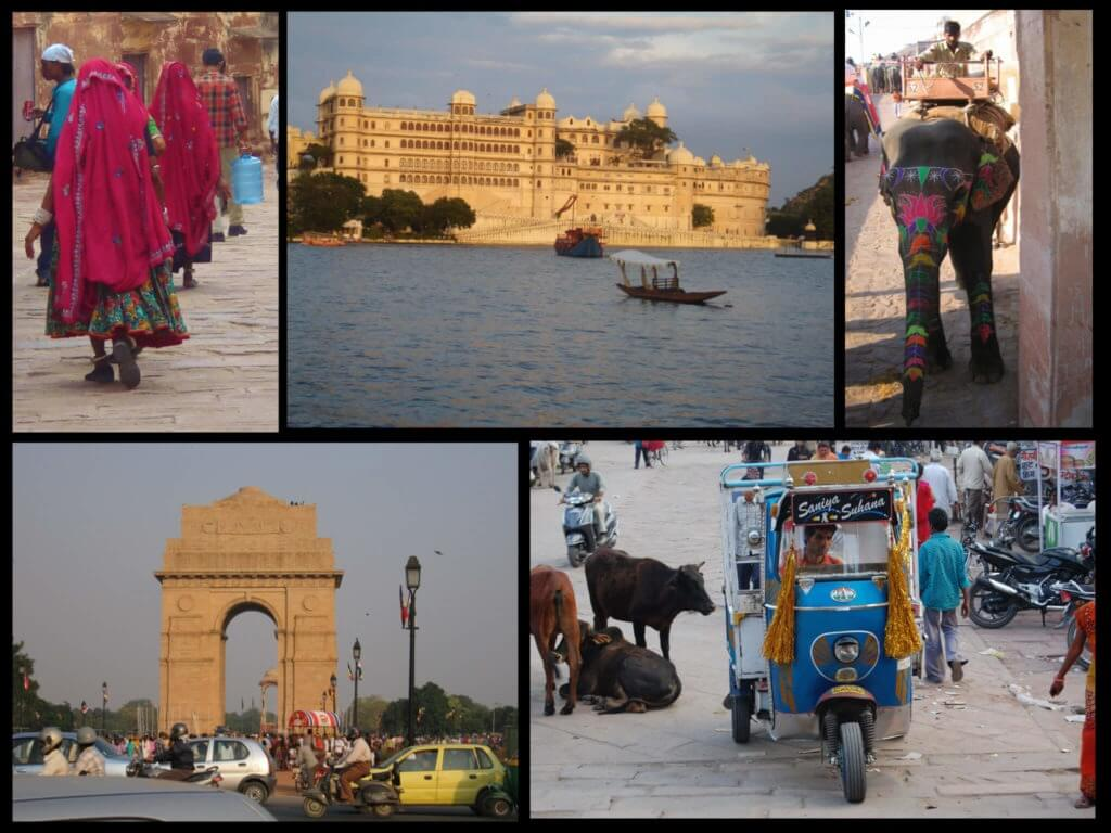 Travel to India for the first time collage 2