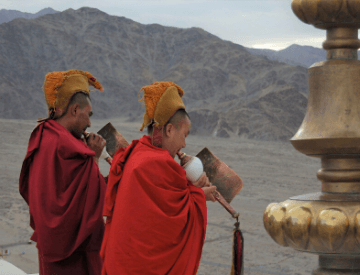 Buddhist Monks in Leh