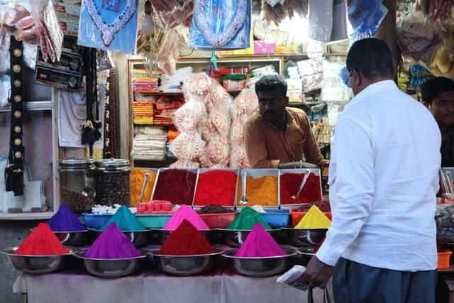 The heart of the Deccan Mysore market
