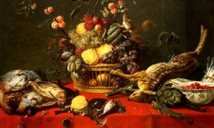 STILL LIFE WITH FRUIT AND GAME