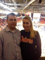 At the Auburn vs. UF basketball game, Feb. 2013