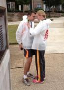 Engaged after the Atlanta Marathon!