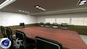 Board Room created in C4D and rendered in Octane Render