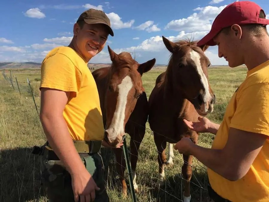 home-on-the-range-cadets-two-horses