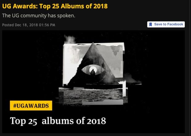 UG Awards: Top 25 Albums of 2018, Jason Becker #21