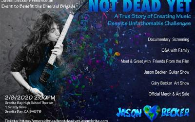 Screen Jason Becker's Film Not Dead Yet, Plus Q&A, Meet & Greet, Official Merchandise & Art Sale