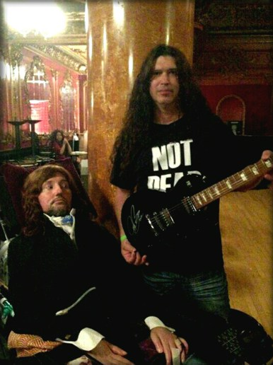 Jason Becker and Stephen with the Joe Bonamassa Gibson Les Paul guitar