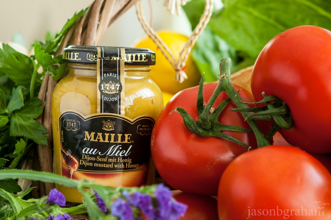 maille-miel-with-tomatoes