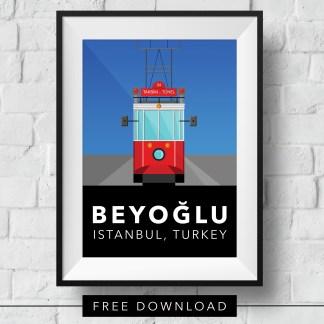beyoglu-tram-poster-free-download