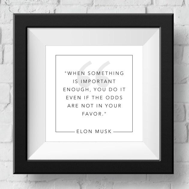 elon-musk-when-something-is-important-framed