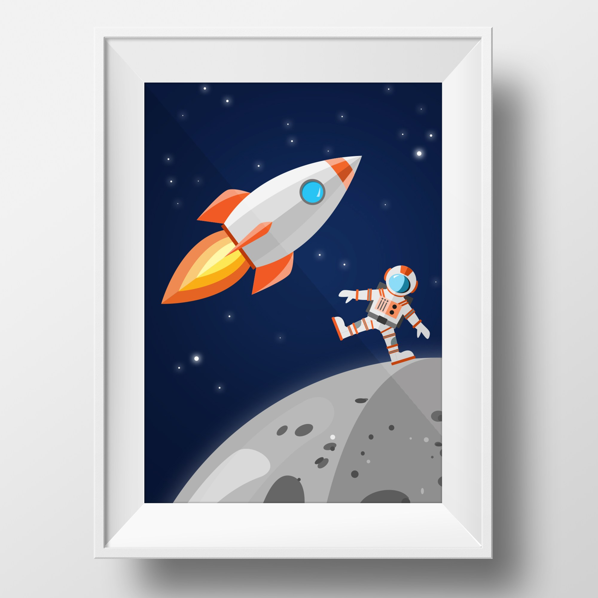space-poster-framed