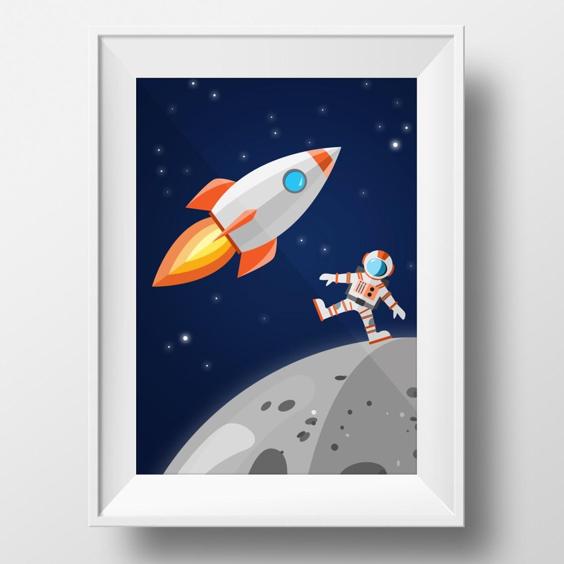 space-poster-framed