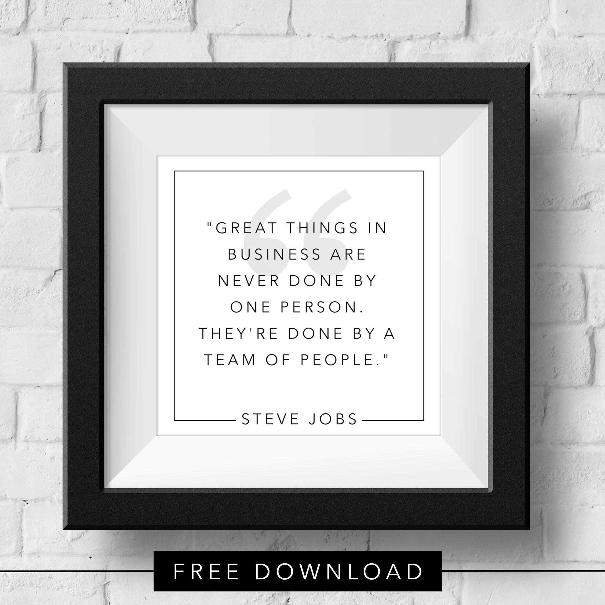 teamwork-steve-jobs-free-download