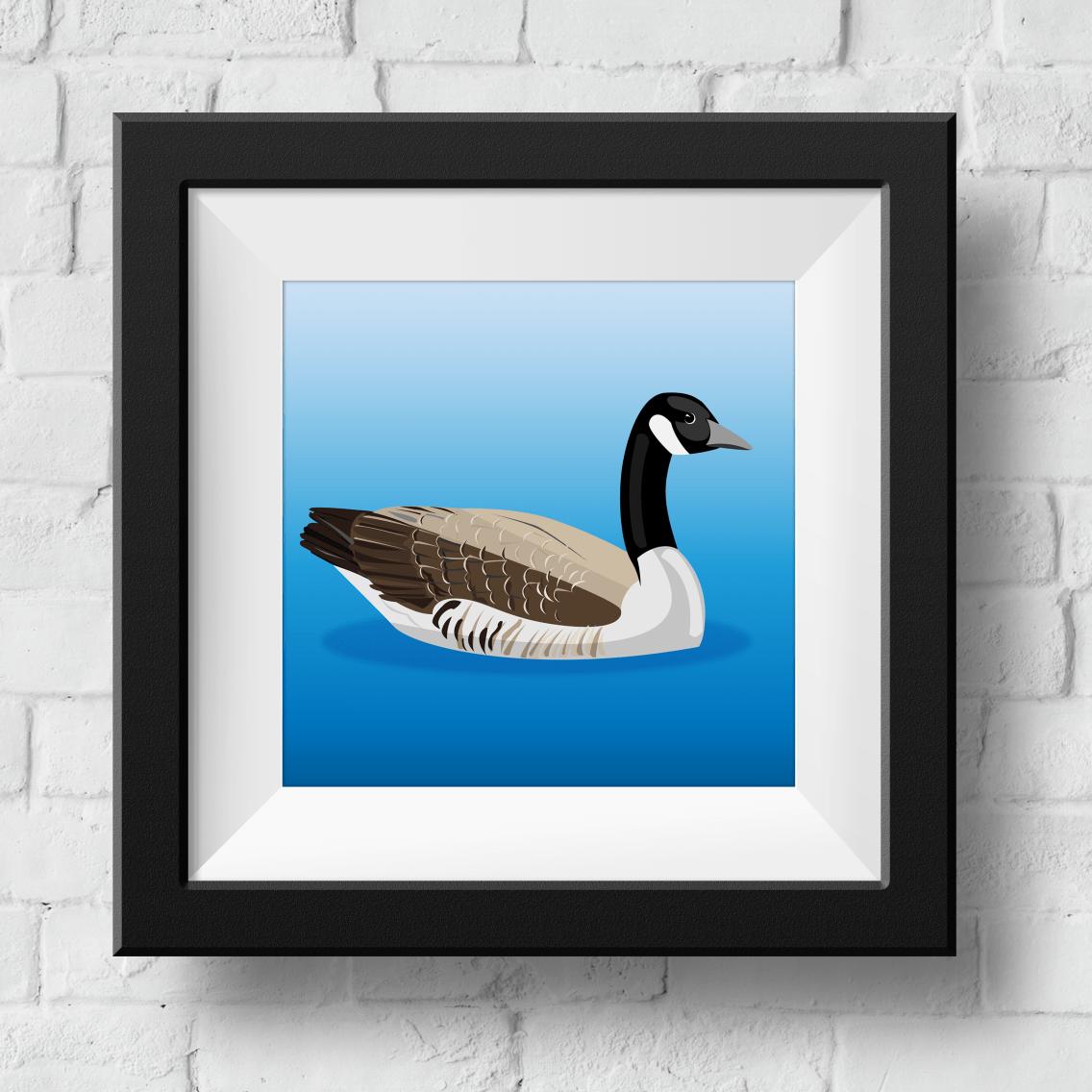 canadian-goose-framed